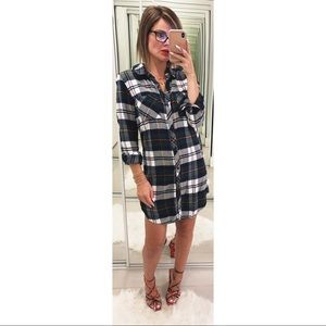 RAILS Nadine Button Down Shirt Dress